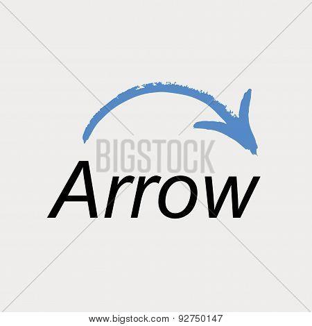 Arrow icon logo. Vector emblem