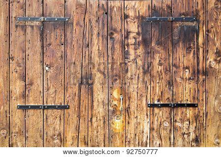 Old Wooden Barn Antique Door Textured Background