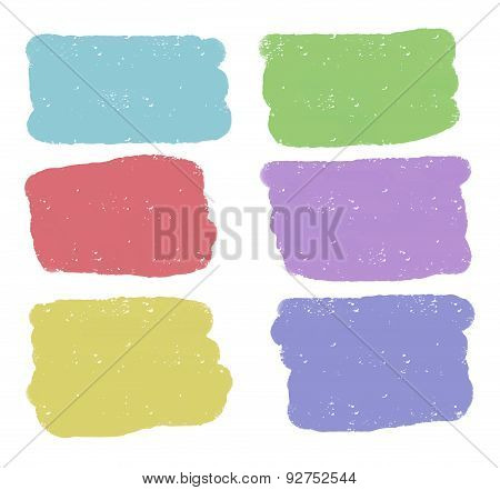 Vector rectangular colorful shapes