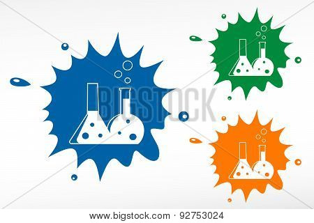 Flask With Chemical Reagent