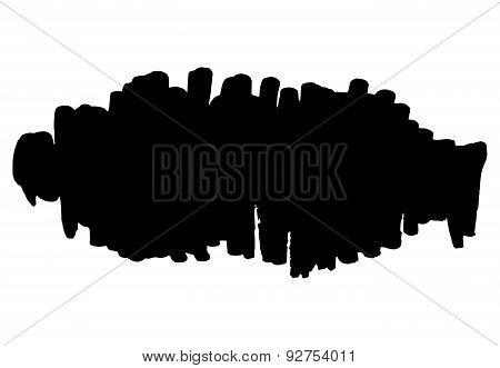 Hand Drawn Grunge Background Vertical Strokes Element