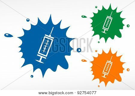 Medical Syringe With Vaccine
