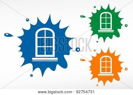 Window Frame - Color Blob