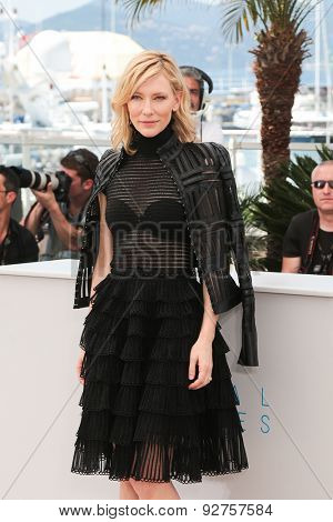 Cate Blanchett attends the 'Carol' Photocall during the 68th annual Cannes Film Festival on May 17, 2015 in Cannes, France.