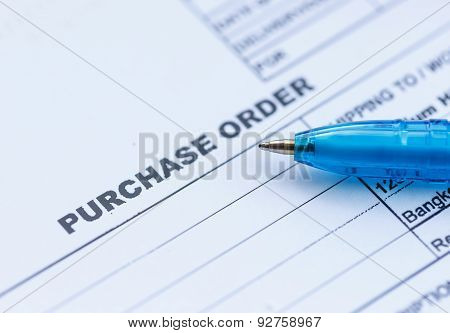 Purchase Order With Blue Pen In The Office?