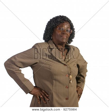 Old African American Woman Standing