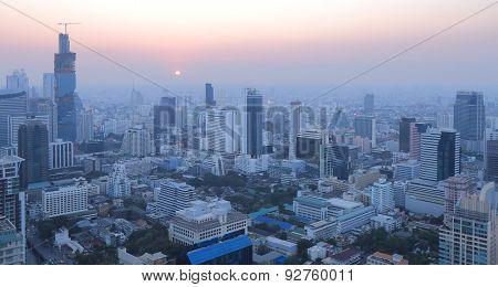 Bangkok city view and bar