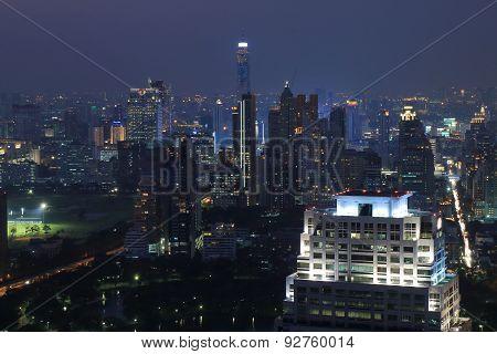 Bangkok cityscape night