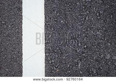 Asphalt Road Texture With White Stripe