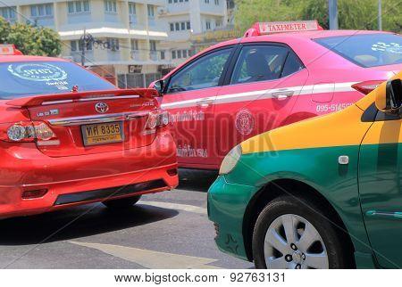 Taxi cab Bangkok Thailand