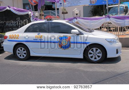 Tourist police car Thailand