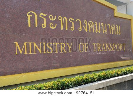 Ministry of Transport Bangkok Thailand