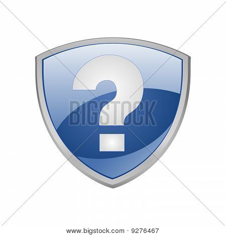 Help Shield Blue Icon