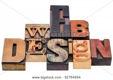 web design typography abstract - isolated text in vintage  mixed letterpress wood type printing blocks