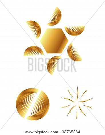 Abstract logo templates. Infinite shapes