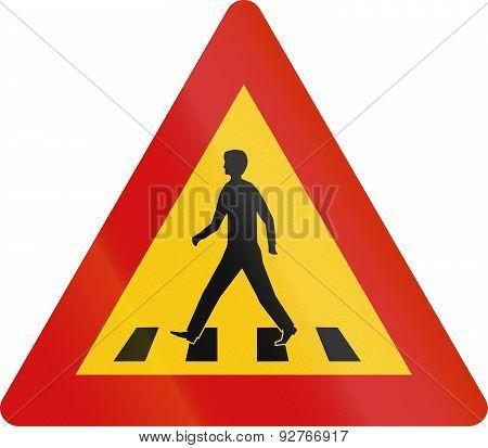 Pedestrian Crossing In Iceland