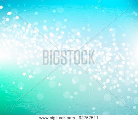 Blue Light Bokeh Background