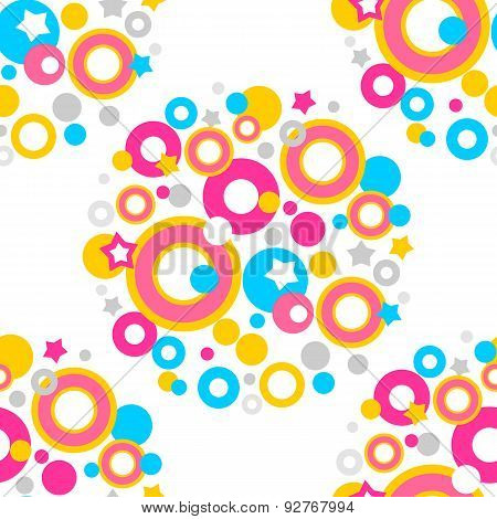 color dots seamless pattern