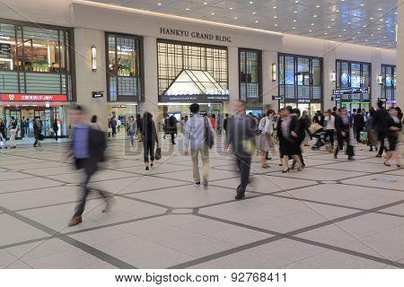 Commuters Osaka Japan