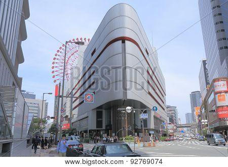 Modern architecture department store Osaka Japan