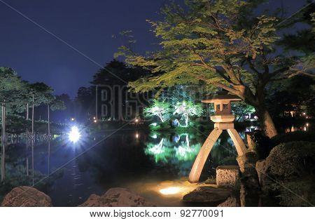 Kenrokuen Japanese garden Kanazawa