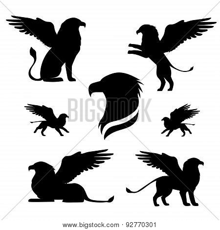 Griffin Set Vector