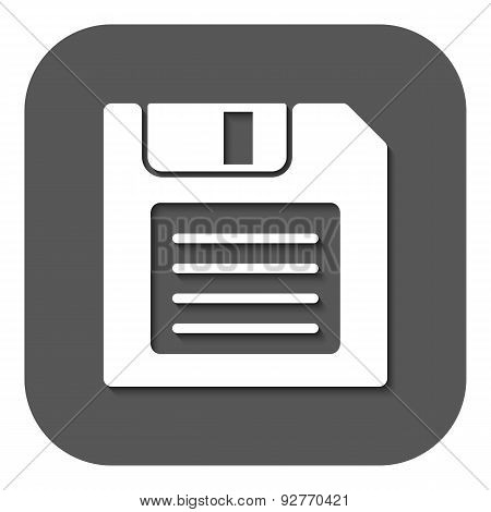 The Floppy Disk Icon. Diskette Symbol. Flat