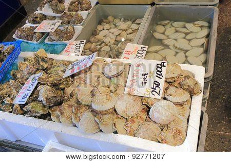 Seafood market Ishikawa Japan