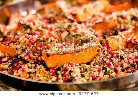 Healthy Salad With Quinoa And Pomegranate