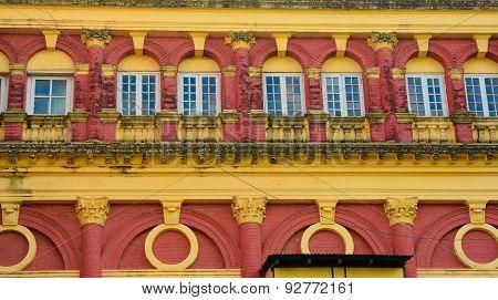 Detail Of Building In Yangon, Myanmar