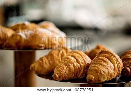 Yummy! Croissant Bread On Close Up