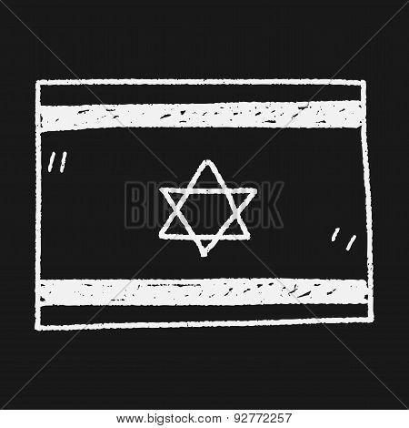 Israel Flag Doodle