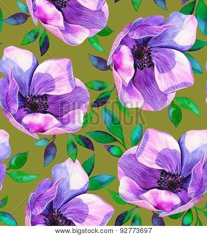 seamless anemone pattern