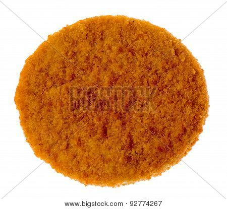 Cutlet Isolated On White Background. Top View
