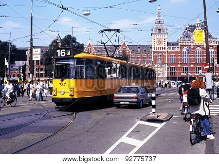 City centre tram, Amsterdam.