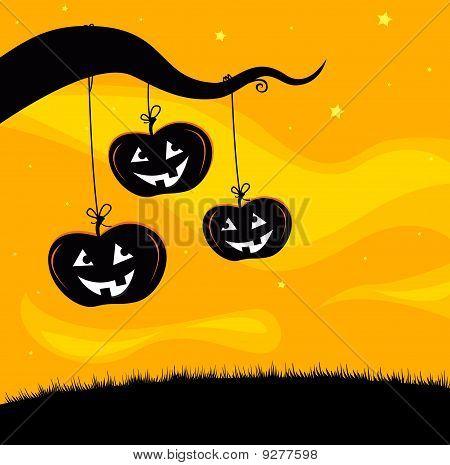 Halloween Jack O'Lantern Tree background