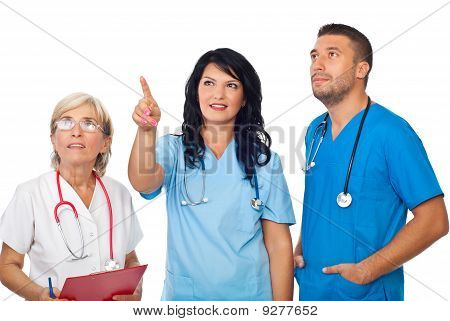Doctors Team Looking Up