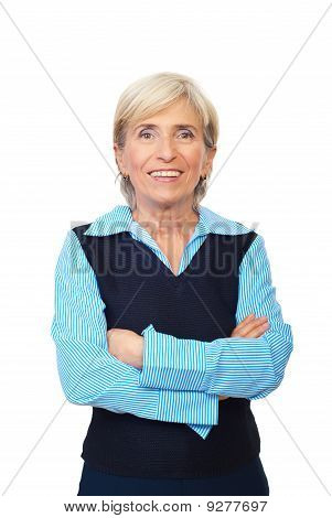 Cheerful Senior Executive Woman