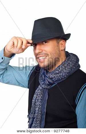 Modern Guy With Black Hat