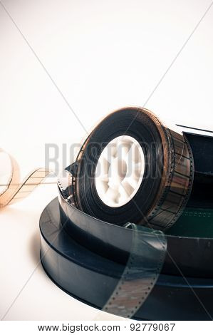 Vintage 35 Mm Movie Reel And Boxes