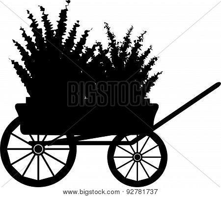 The Cart With Flowers. Silhouette