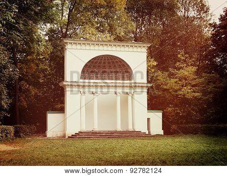White rotunda in the park