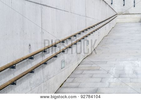 Upstairs Vanishing Ramp For Using Wheelchair