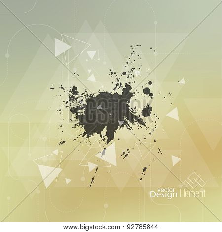 Abstract blurred background with hipster triangles