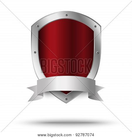 Metal Shield. Protection Or Victor's Symbol.