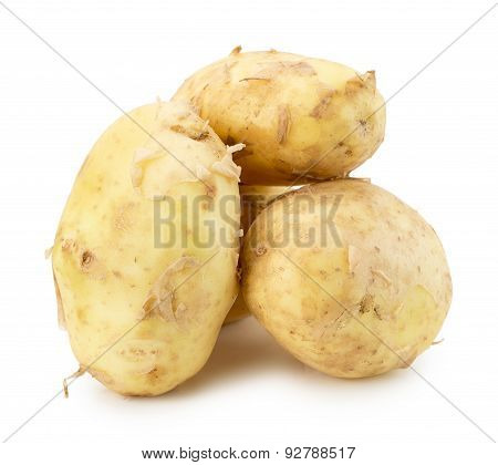 Young Potatoes Isolated On The White Background