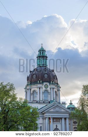 Gustav Vasa Church During Sunset