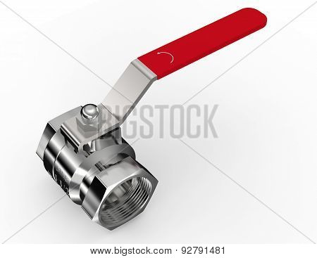 Water Valve Isolated On A White Background