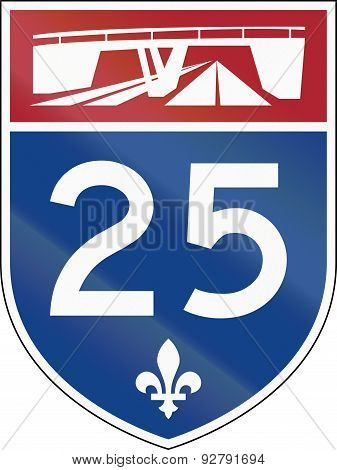Quebec Highway Shield 25