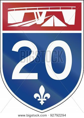 Quebec Highway Shield 20